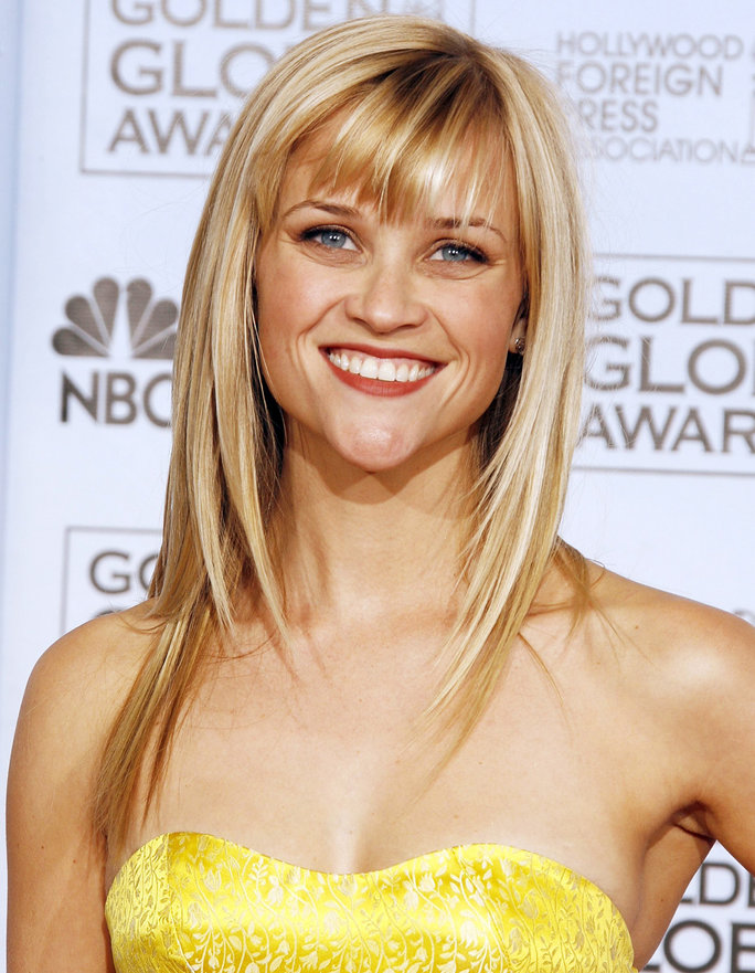 Reese Wither Spoon at the Golden Globes in 2007
