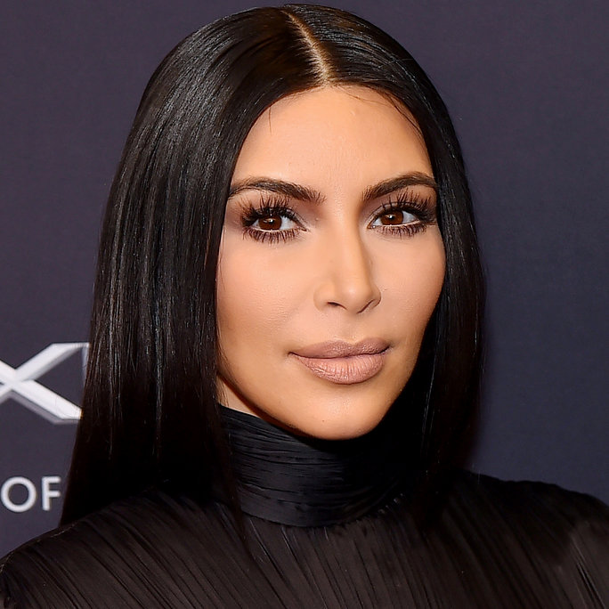 Kim Kardashian West Goes for an All-Nude Look—Right Down to Her Fishnets