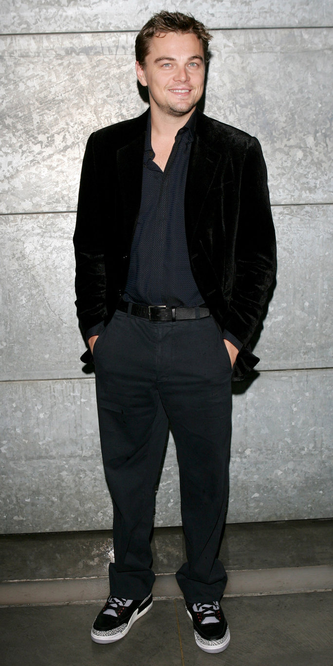 At the Giorgio Armani Spring/Summer Show in Milan, 2007.