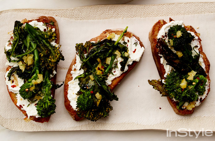 Broccolini Ricotta Toasts