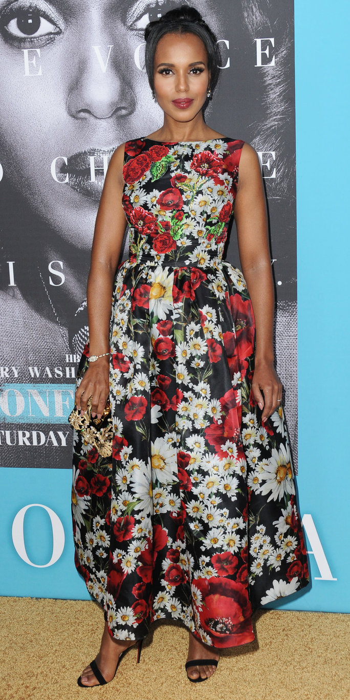 Kerry Washington Channels Spring Florals in Dolce & Gabbana at the Premiere of <em>Confirmation</em>