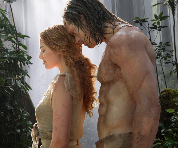 JUNGLE LOVE: Alexander Skarsgard and Margot Robbie in The Legend of Tarzan