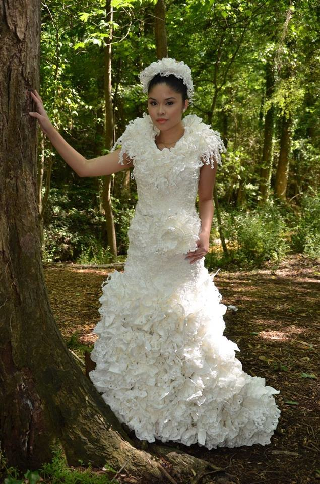 This Designer Used Toilet Paper to Create a Stunning Wedding Dress