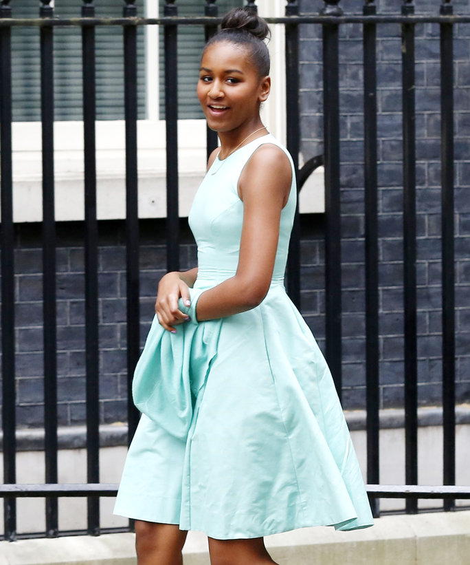First Daughter Sasha Obama's Style Evolution