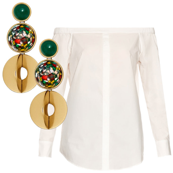<p>TORY BURCH EARRINGS AND EQUIPMENT TOP</p>