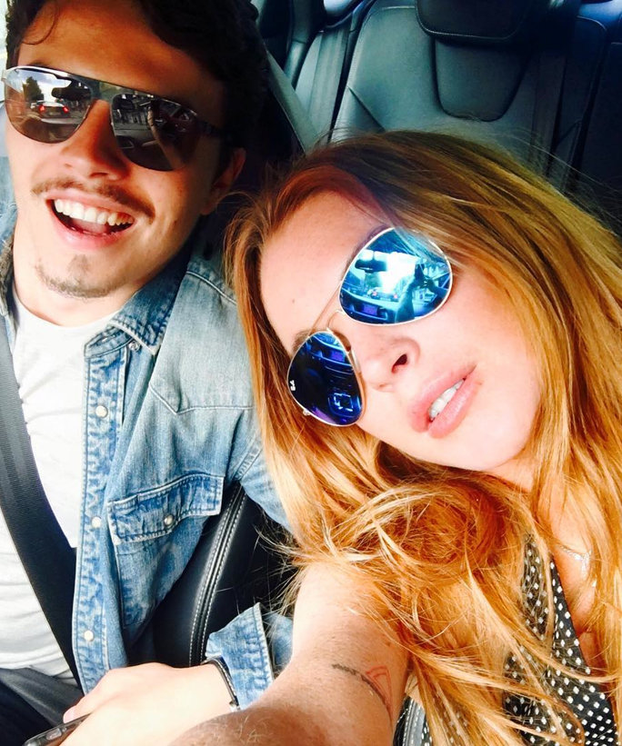 Lindsay Lohan Makes Red Carpet Debut with Her Adorable Boyfriend