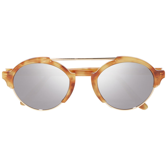 Illesteva Milan III gold-tone and acetate mirrored sunglasses
