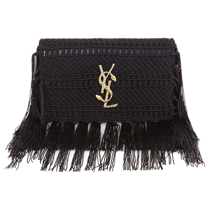 <p>Saint Laurent Crochet Clutch</p>