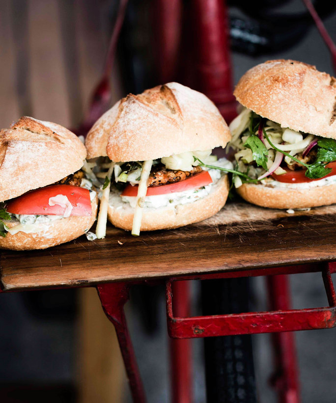 Spice-Rubbed Fish Sliders