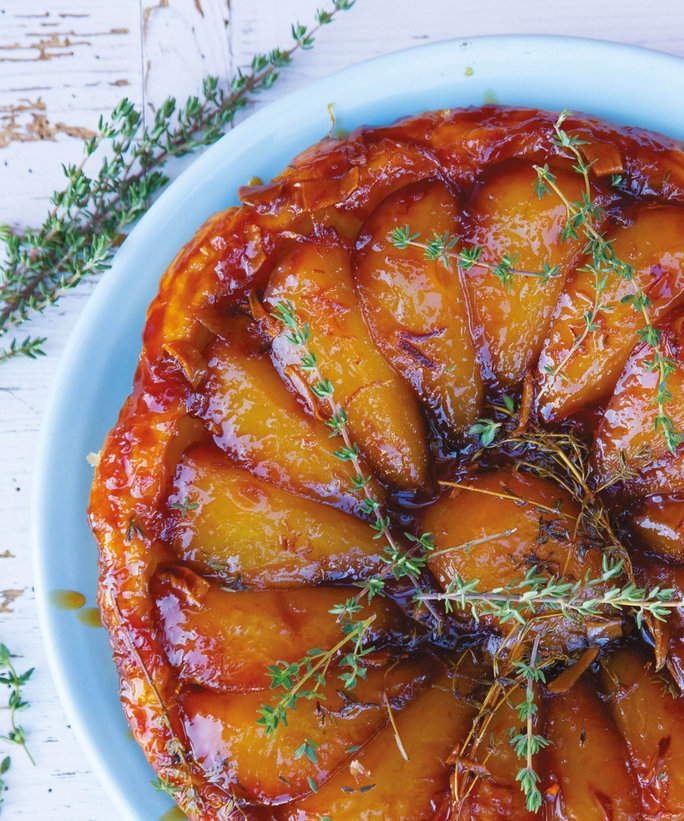 <p>Pear, Ginger, and Thyme Tarte Tatin</p>