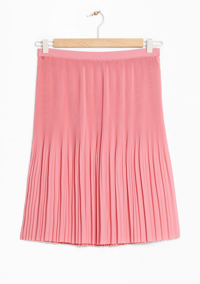 Mini Pleats Crepe Skirt