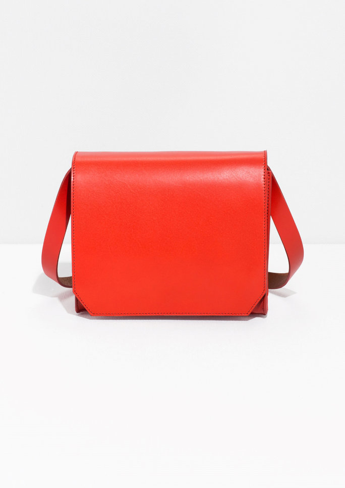 <p>Structured Leather Cross-BodyBag</p>