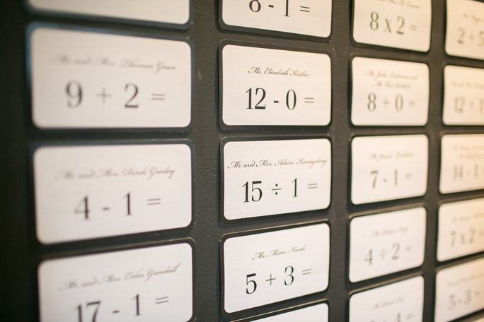 Play With Your Escort Cards and Table Numbers