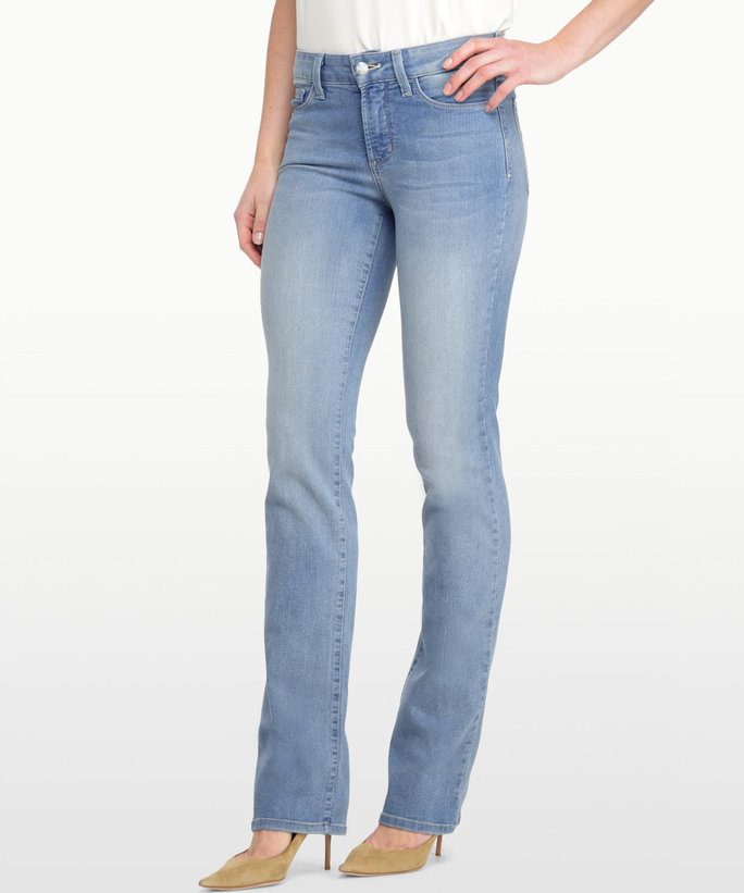 Straight Jeans There's more to tall women's straight jeans than extra length. We're talking extended rise, adjusted waist, no-gape contouring, repositioned pockets, three lengths and one slimline silhouette.