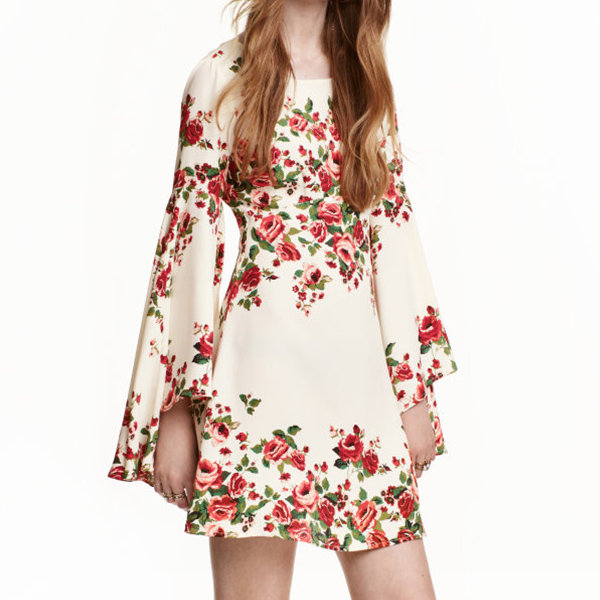 <p>H&M Dress with Trumpet Sleeves </p>