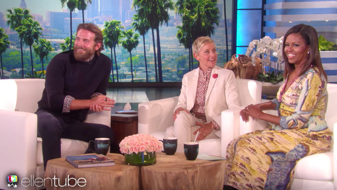 Bradley Cooper and Michelle Obama - Ellen
