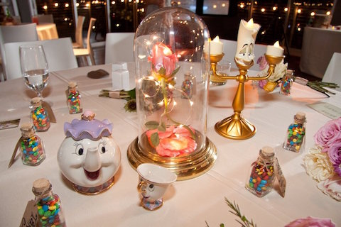 ... Gave Each Table at Their Wedding Reception a Different Disney Theme