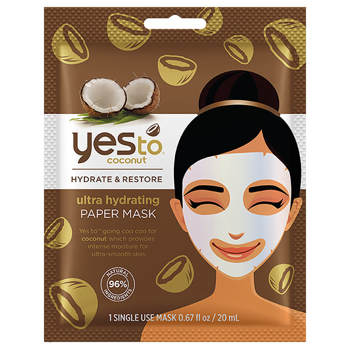 <p>Yes To Coconut Ultra Hydrating Paper Mask</p>