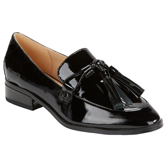 <p>Patent Leather Loafers</p>