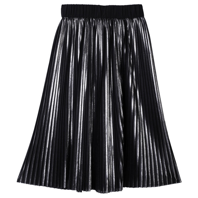 <p>Metallic Pleated Skirt</p>