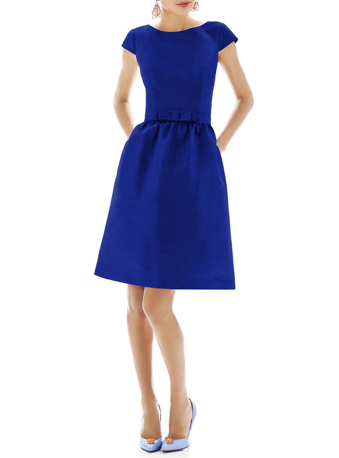 <p>Alfred Sung Woven Fit & Flare Dress</p>