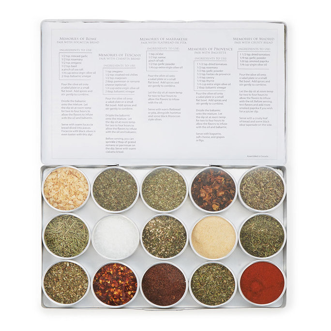 <p> Gourmet Oil Dipping Spice Kit</p>