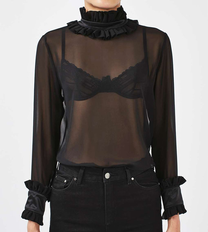 <p>Sheer Blouse by Boutique</p>