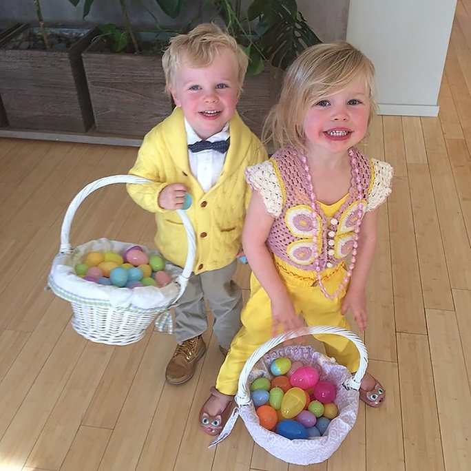 <p>Gideon and Harper Celebrate Easter</p>