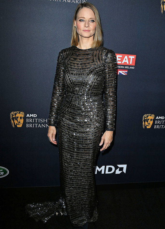 BEVERLY HILLS, CA - OCTOBER 28:  Jodie Foster arrives at the 2016 AMD British Academy Britannia Awards Presented by Jaguar Land Rover And American Airlines at The Beverly Hilton Hotel on October 28, 2016 in Beverly Hills, California.  (Photo by Steve Gran