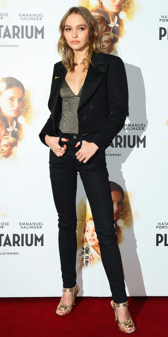 November 08, 2016: Lily-Rose Depp attending the 'Planetarium' Paris Premiere at Le Grand Rex in Paris, France.