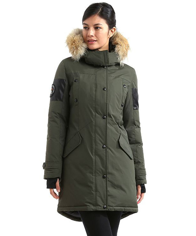 <p>Triple F.A.T. Goose Embree Womens Hooded Arctic Parka</p>