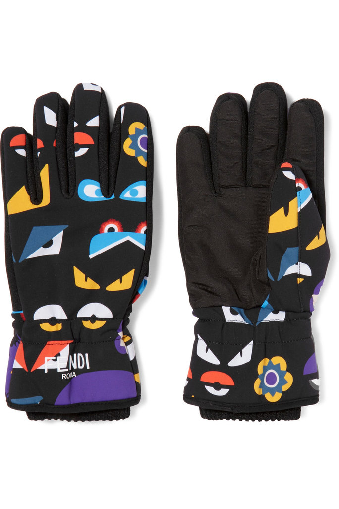 <p>Printed Shell and Canvas Ski Gloves</p>