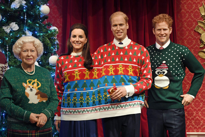 593737365c3012 This Photo of the Royal Family in Ugly Christmas Sweaters Is ...