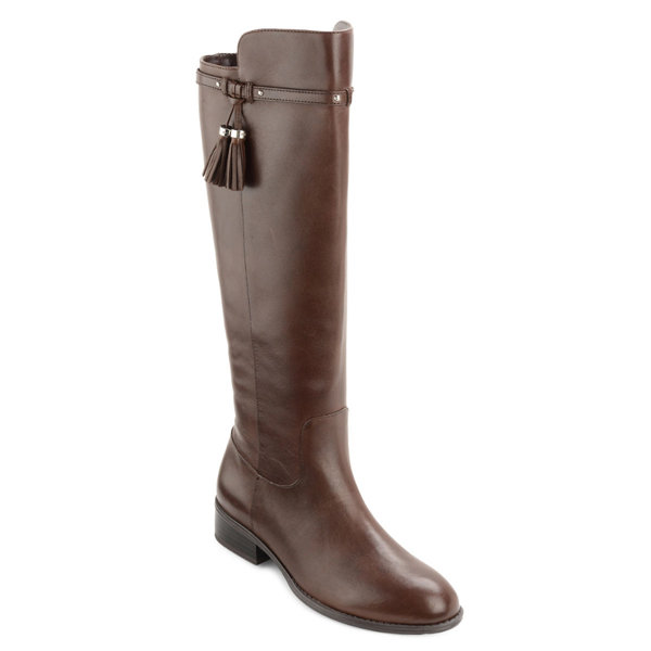 <h2>Marsalis Tassel Leather Knee-High Riding Boots</h2>