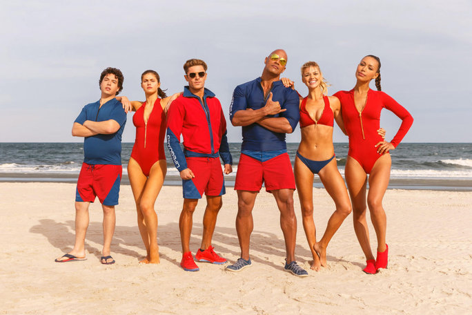 "<em>Baywatch </em>Stars Brave the Cold to Assure Us ""Summer Is Coming"""
