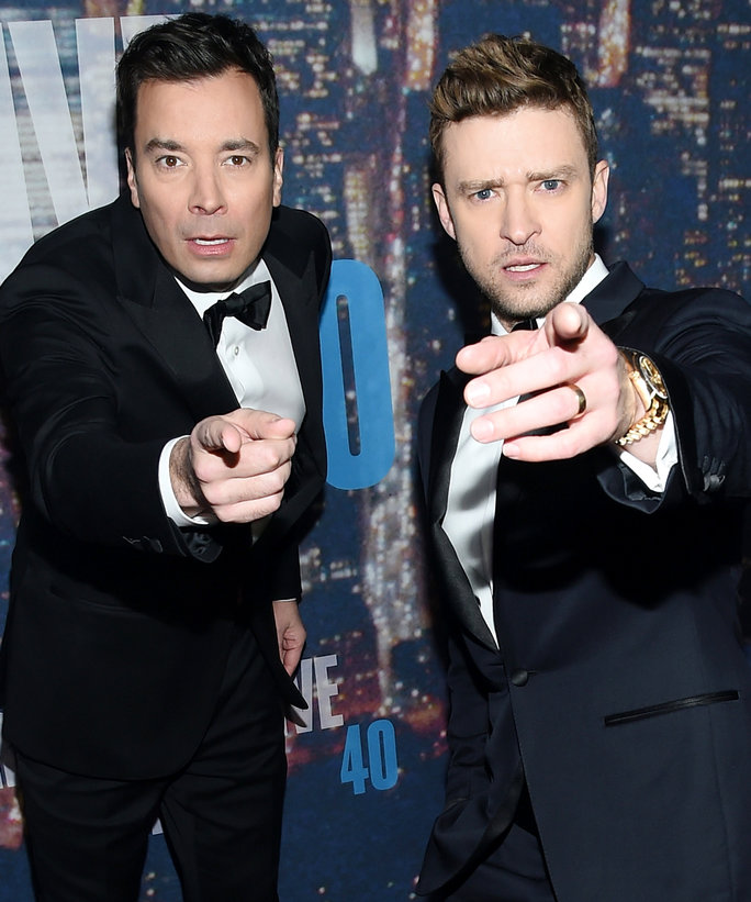 <p>Jimmy Fallon and Justin Timberlake</p>