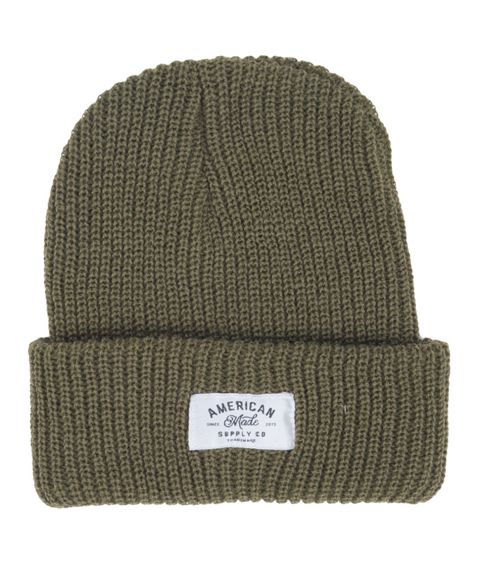 <p>AMERICAN MADE SUPPLY CO. BEANIE</p>