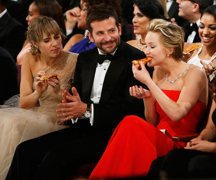 Jennifer Lawrence, Bradley Cooper, & Suki Waterhouse