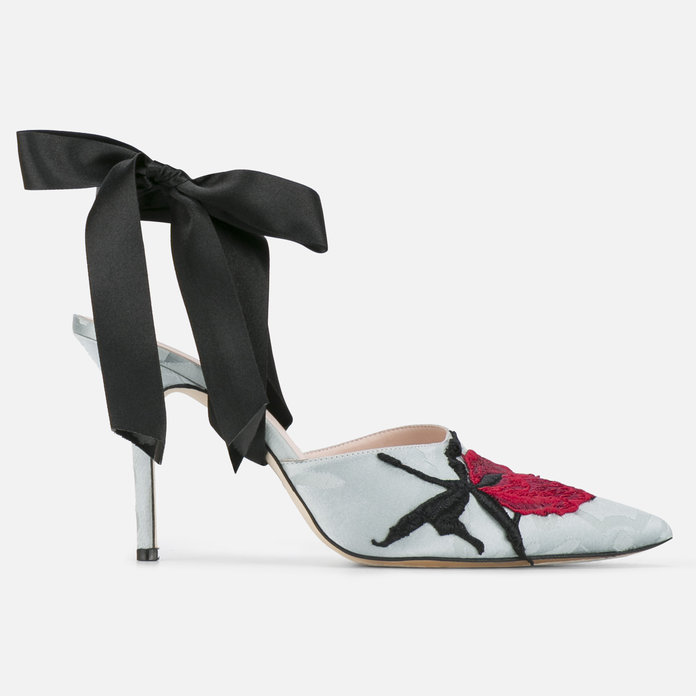 You'd be the perfect dinner party guest in these silk stilettos.