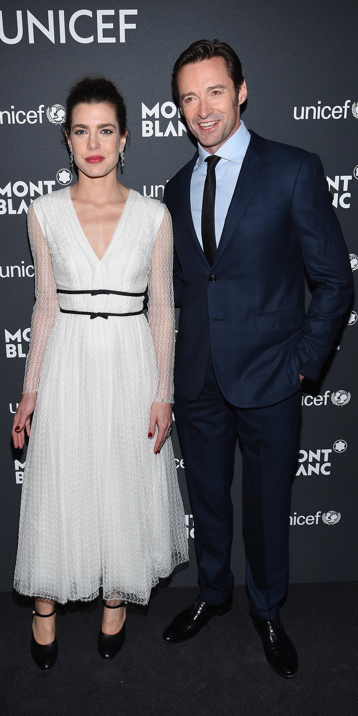 <p>Charlotte Casiraghi and Hugh Jackman</p>