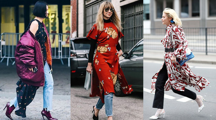 Dresses Over Jeans - The Chic Girl's Answer To 'In-Between' Weather