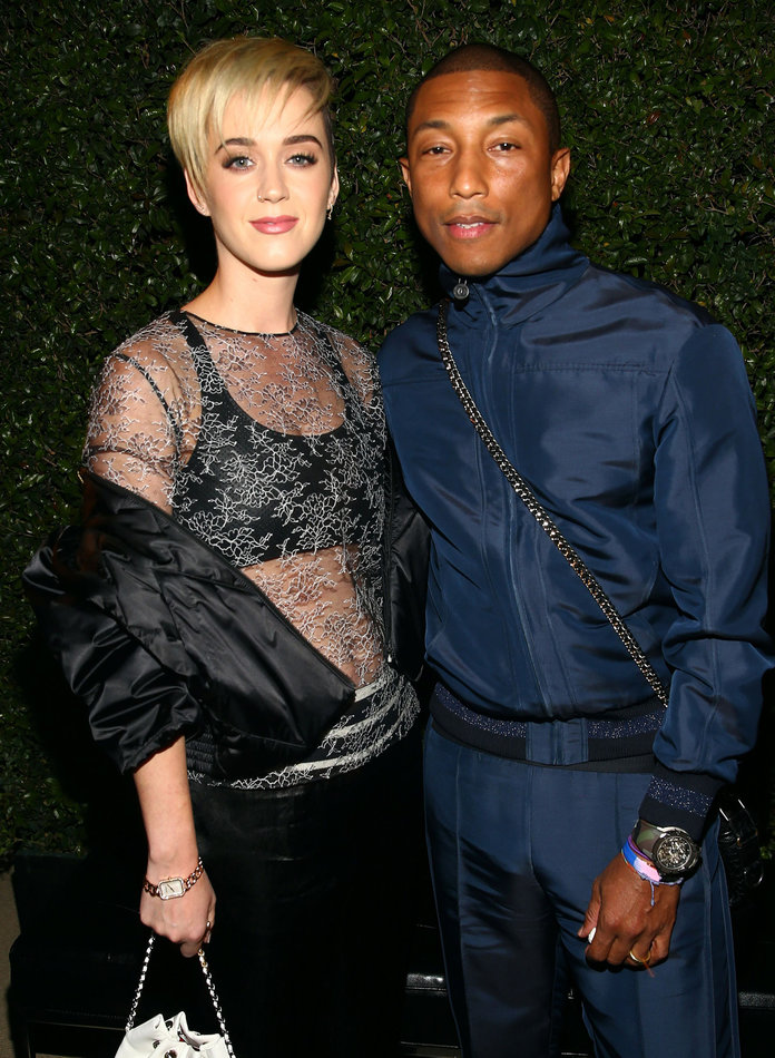 Katy Perry, Pharrell Wear Head-to-Toe Chanel to Fête the New Gabrielle Bag