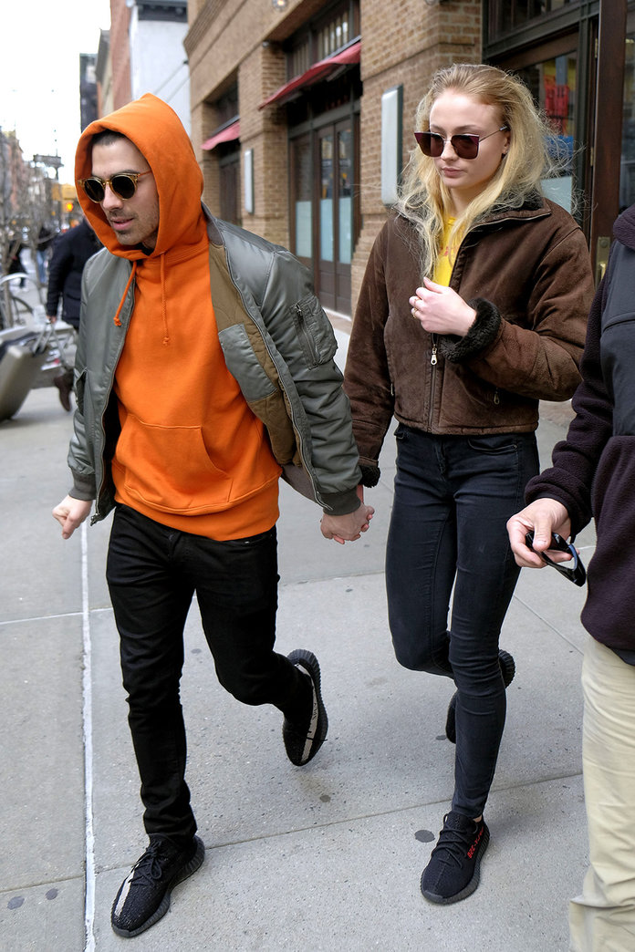 Mandatory Credit: Photo by Curtis Means/ACE Pictures/REX/Shutterstock (8467873g)                     Joe Jonas, Sophie Turner                     Joe Jonas and Sophie Turner out and about, New York, USA - 03 Mar 2017