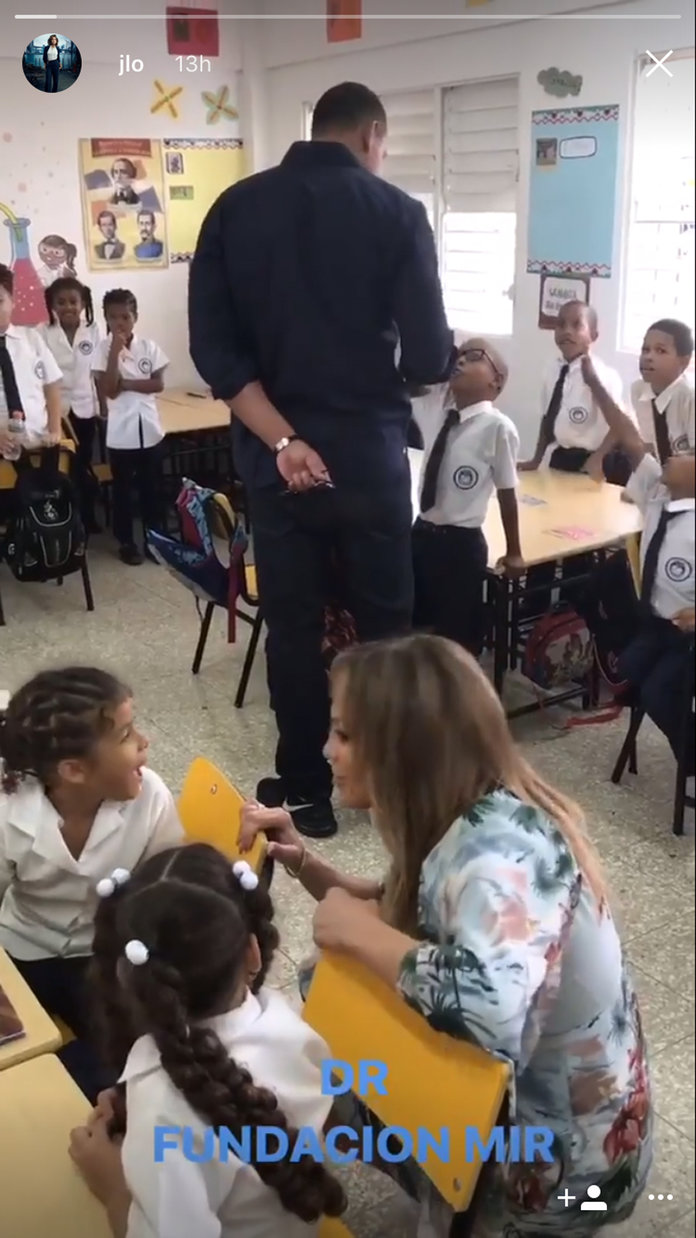 Jennifer Lopez and Alex Rodriguez Visit Students in Dominican Republic