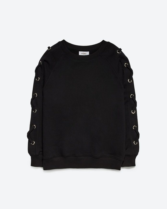 <p>lace-up sweatshirt</p>
