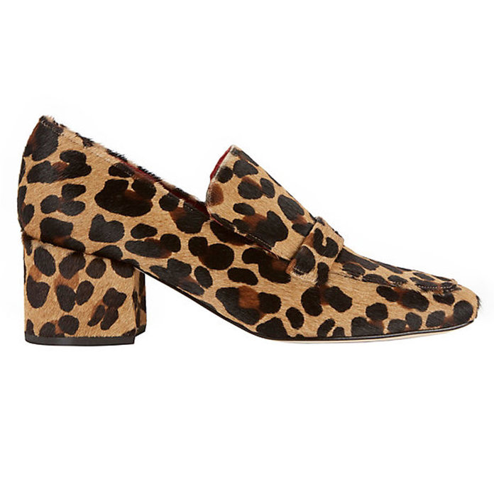 <p>Leopard Print Haircalf Loafers</p>