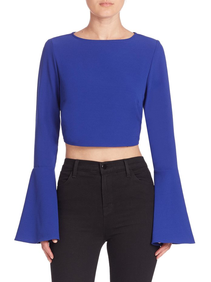 Cropped Bell-Sleeve Top