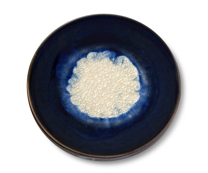 Stoneware Agate Coaster Dark Blue