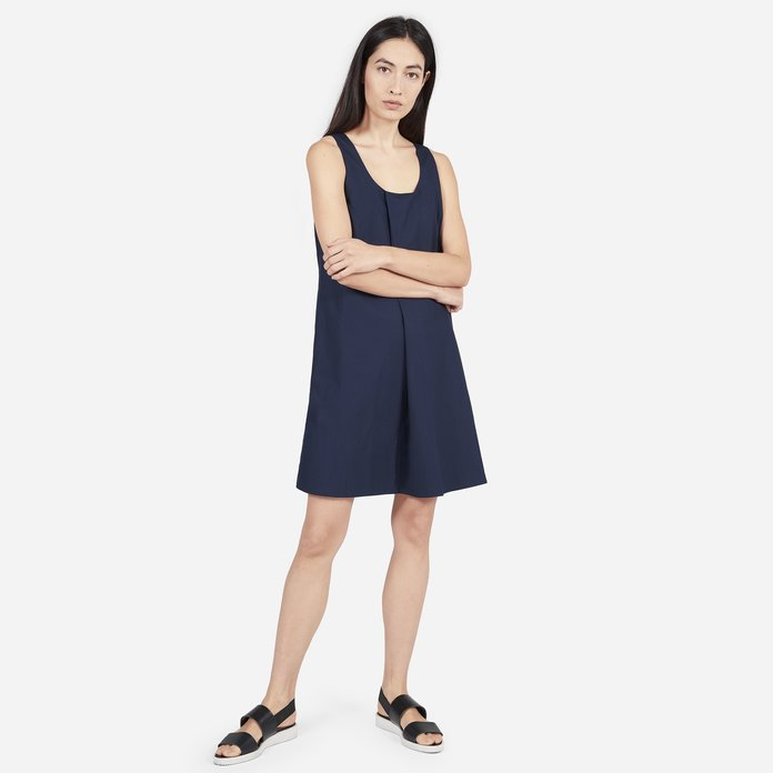 The Cotton Poplin Pleated Dress