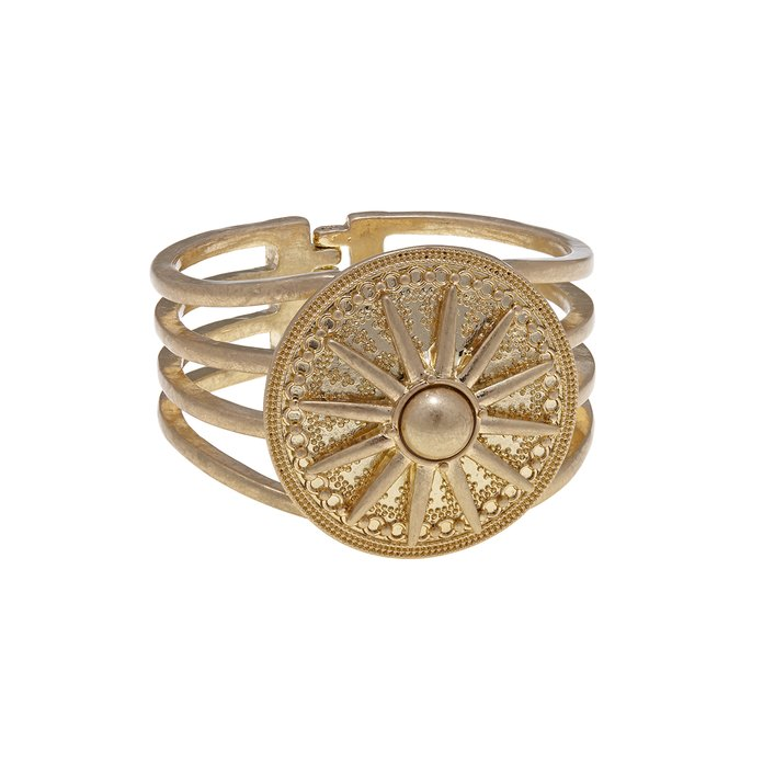 RJ Graziano Medallion Hinged Bangle
